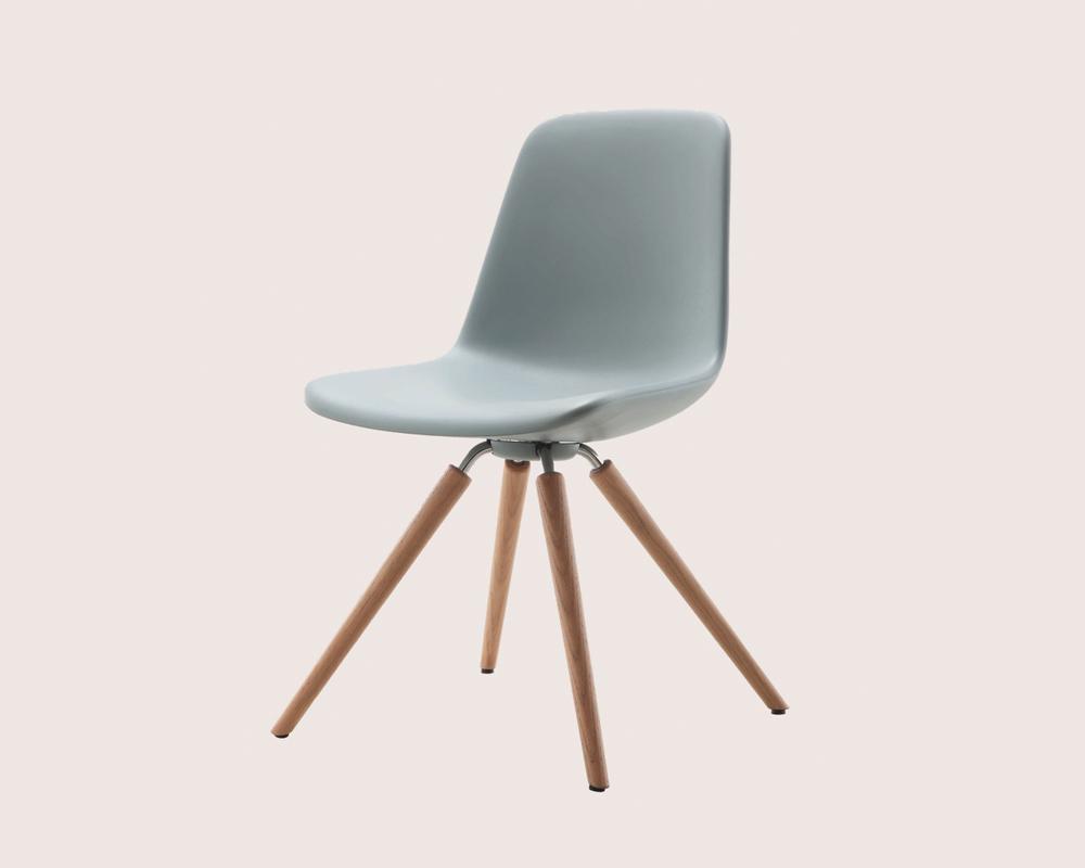 Stylische stuhl quo mit polyurethan sitzschale schauraum for Stylische sessel